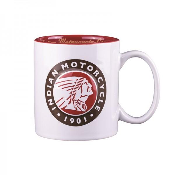 Indian Icon Logo Embossed Mug - White