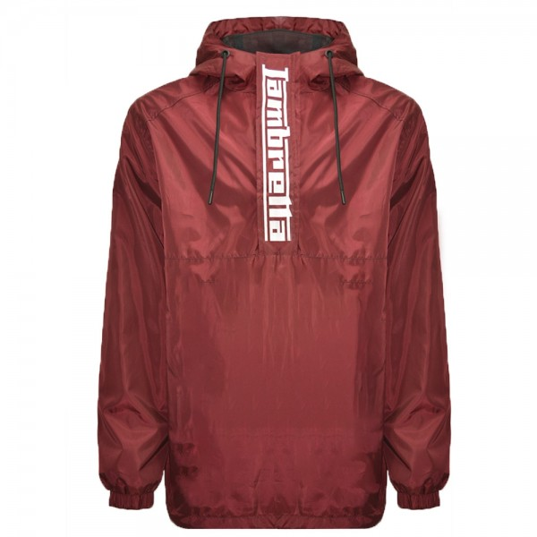 Lambretta Overhead Hooded Jacket Burgundy