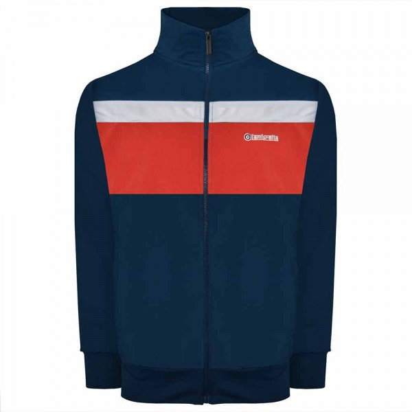 Lambretta Poly Tricot Track Jacket Navy/Red