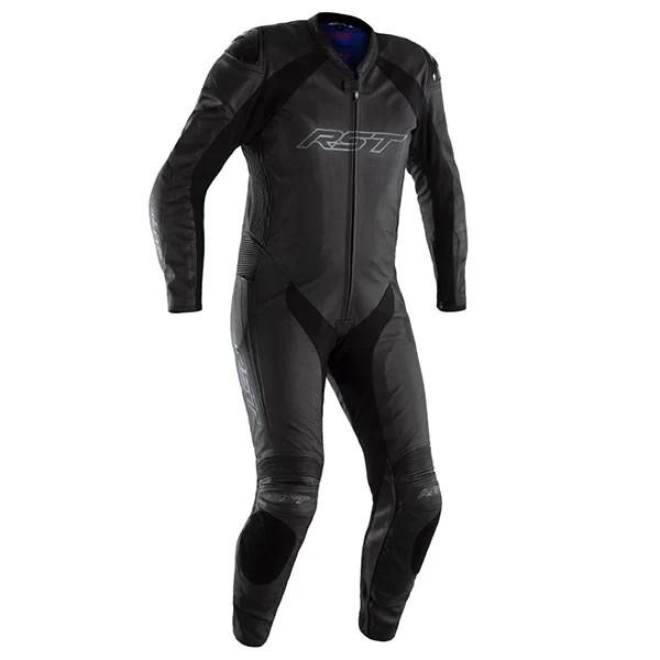 RST Podium Airbag CE One Piece Leather Suit Black