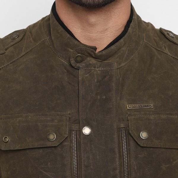 Royal Enfield Ranger Wax Coated Casual Jacket - Olive