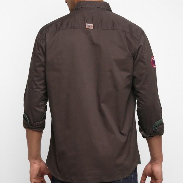 Royal Enfield Cargo Shirt - Coffee