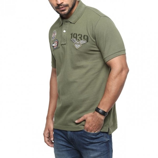 Royal Enfield Dispatch Rider Polo Shirt - Olive
