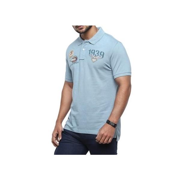 Royal Enfield Dispatch Rider Polo Shirt - Blue