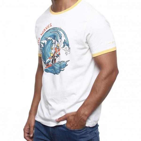 Royal Enfield Swirl T-Shirt - Off White