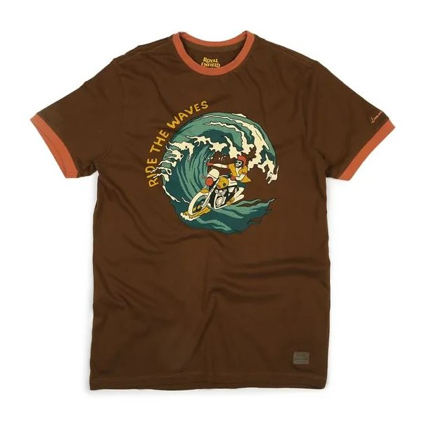 Royal Enfield Swirl T-Shirt - Brown