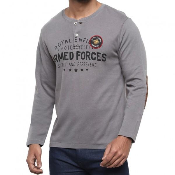 Royal Enfield FS Henley T-Shirt - Charcoal