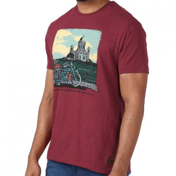 Royal Enfield Basilica Of Esztergom T-Shirt - Red