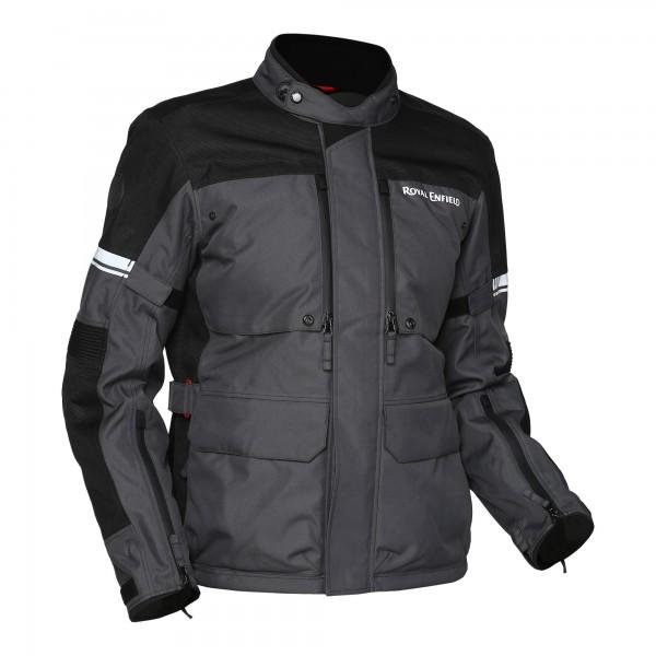 Royal Enfield Stormraider Waterproof CE Motorcycle Jacket - Grey