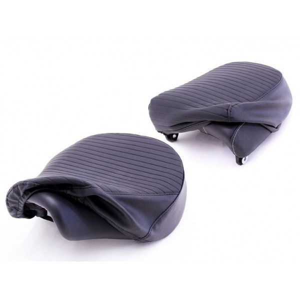 Royal Enfield Meteor Seat Cover Set, Pleated, Black KXH00080/B