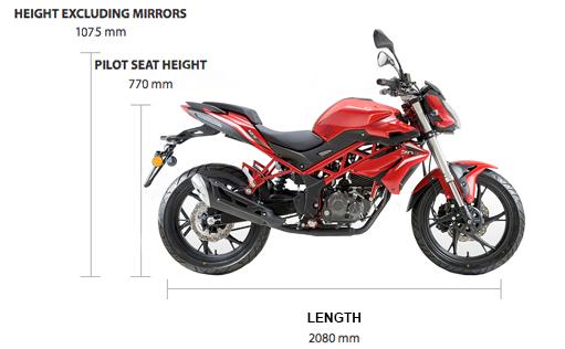Dimensions BN 125cc