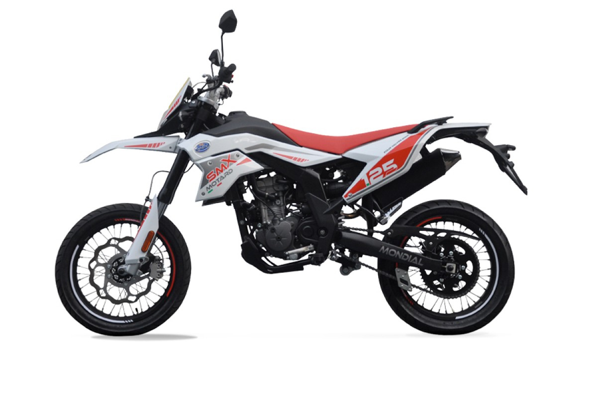 White SMX Motard 125cc