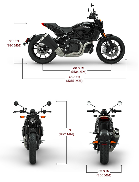 Indian FTR1200 Dimensions