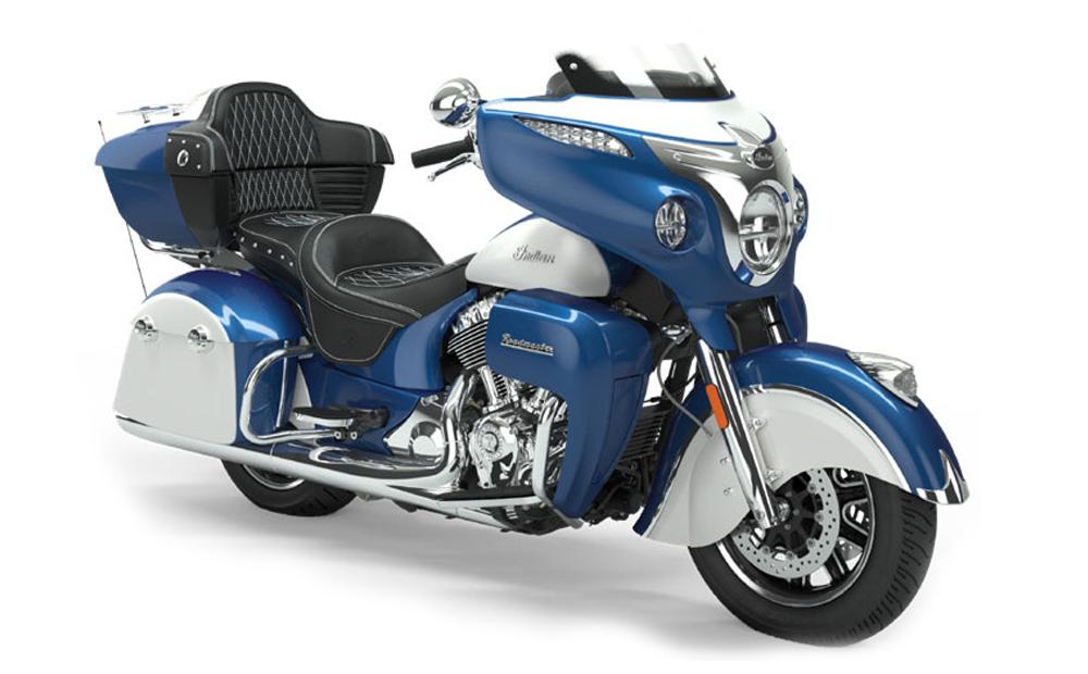 Brilliant Blue/Pearl White Roadmaster