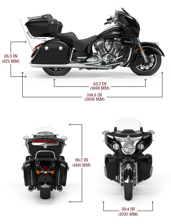 Indian Roadmaster Dimensions