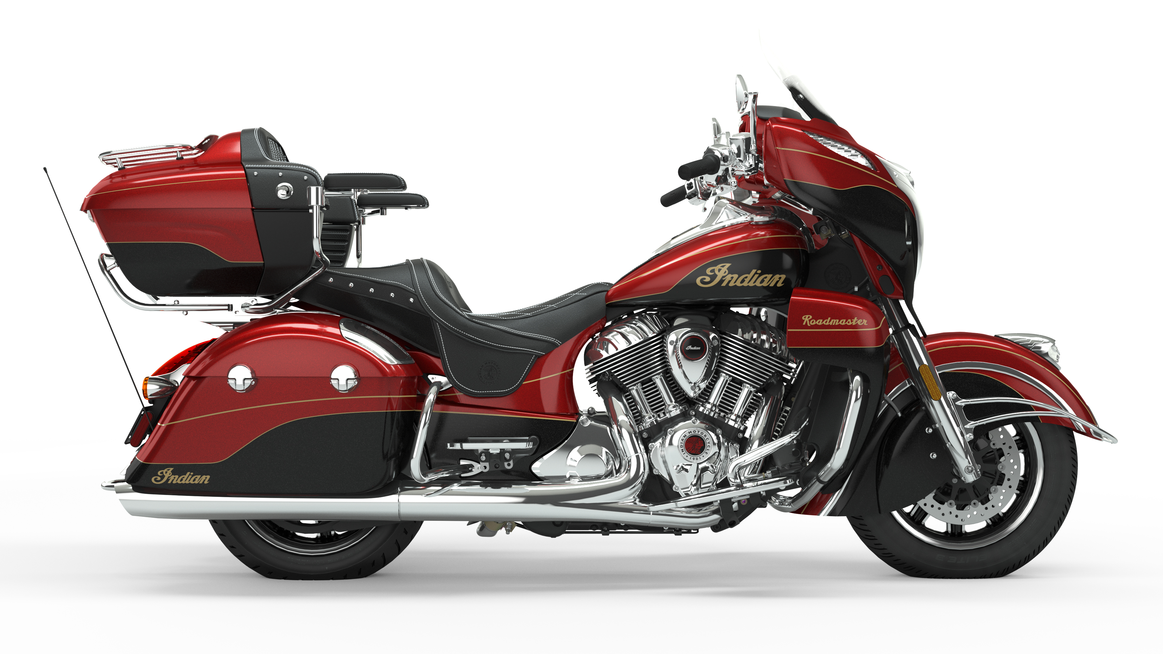New Wildfire Red Candy over Black crystal with 24k GoldIndian Roadmaster