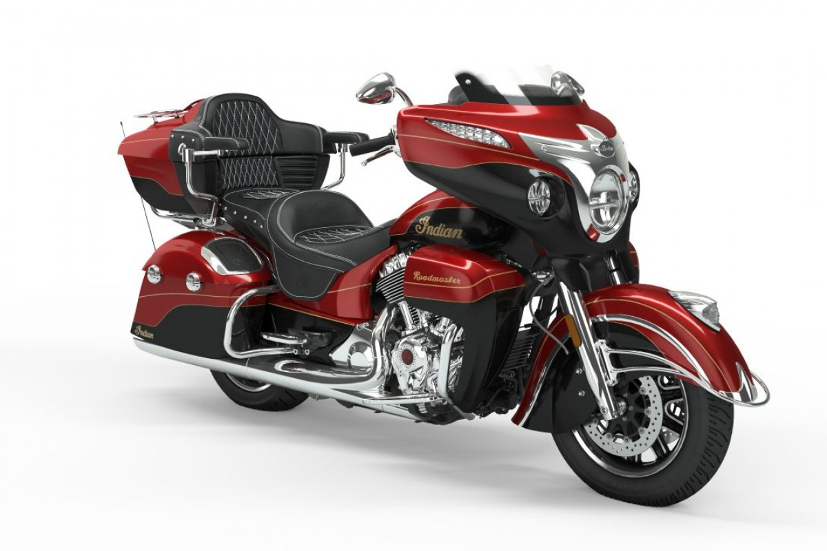 Wildfire Red Candy over Thunder Black Crystal with 24k Gold Trim Roadmaster Elite