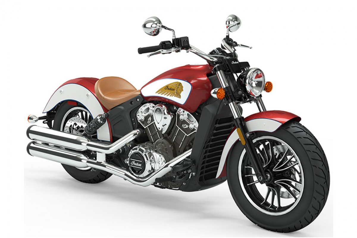 ICON Ruby Metallic/White Scout 1200 Icon series