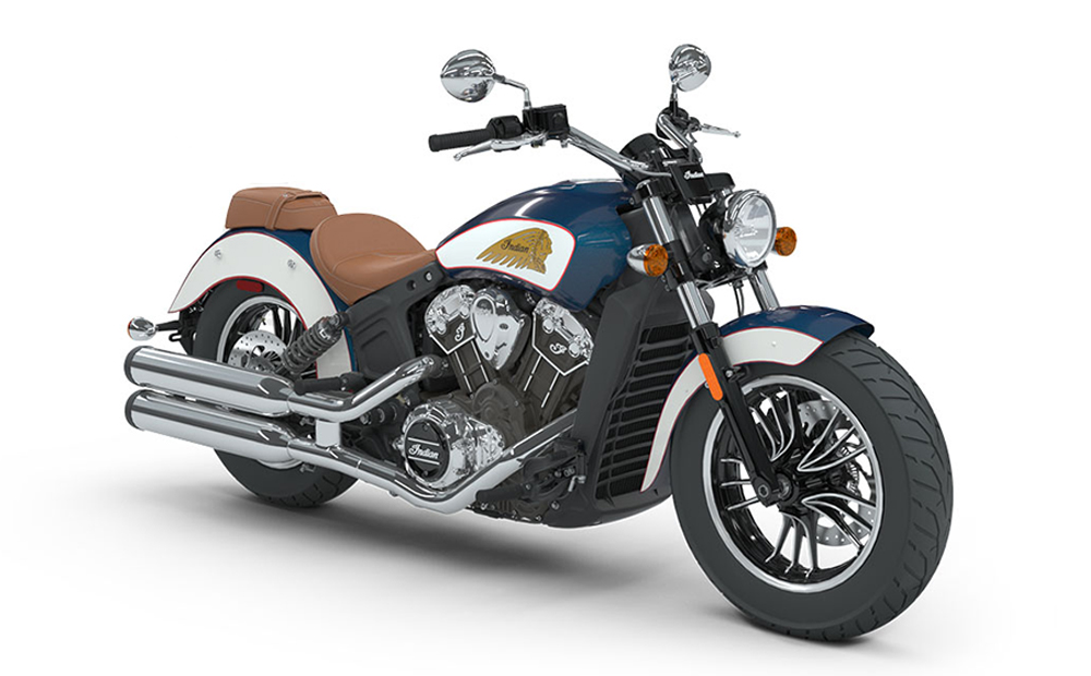 Brilliant Blue/Pearl White Indian Scout