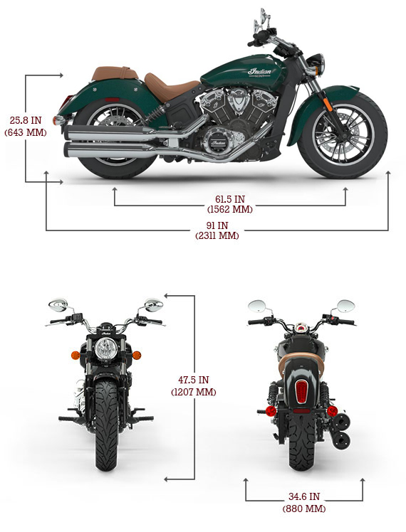 Indian Scout '18 Dimensions