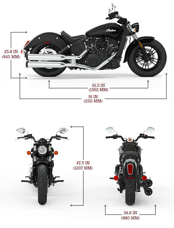 Indian Scout Sixty '18 Dimensions