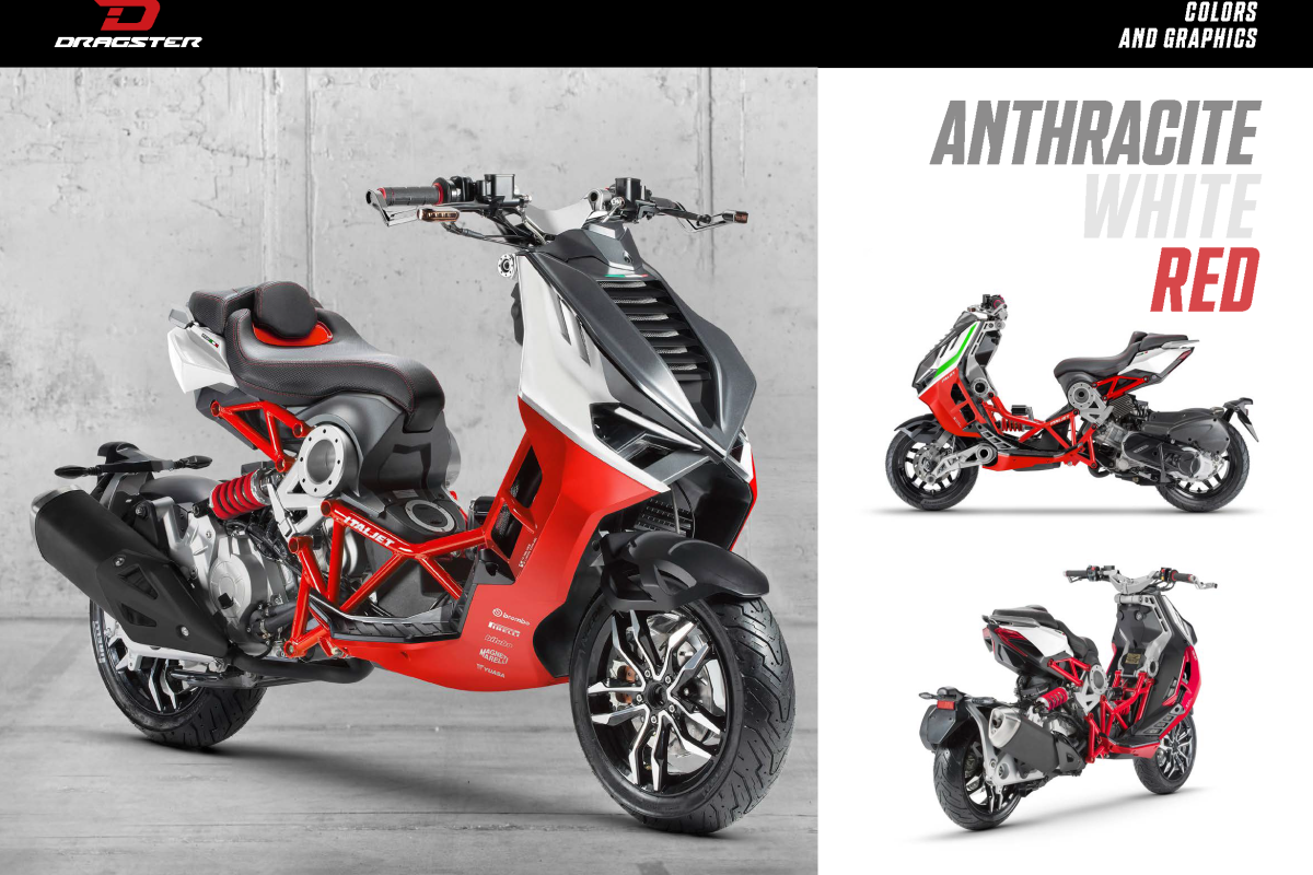 Anthracite/Red/White Dragster 125