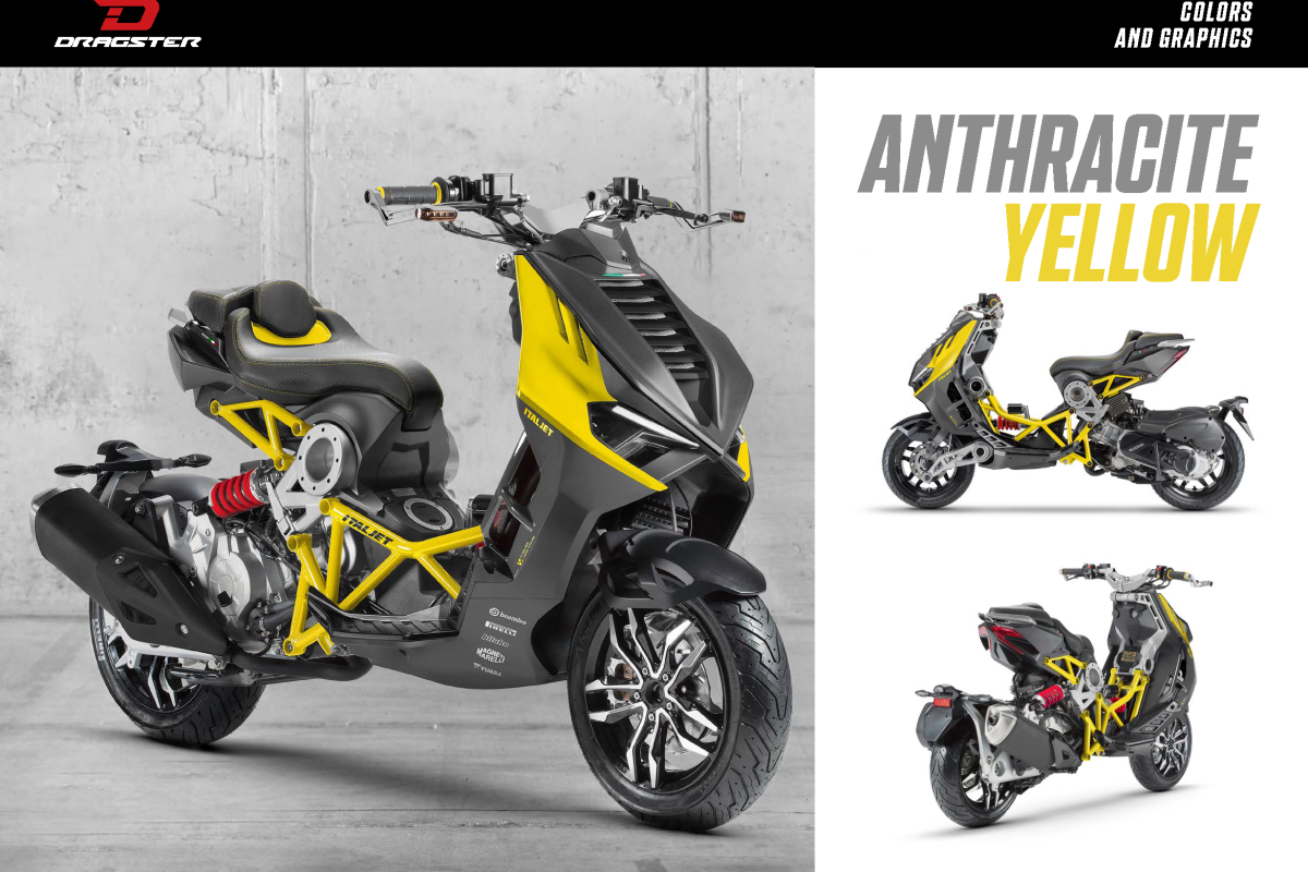 Anthracite/Yellow Dragster 125