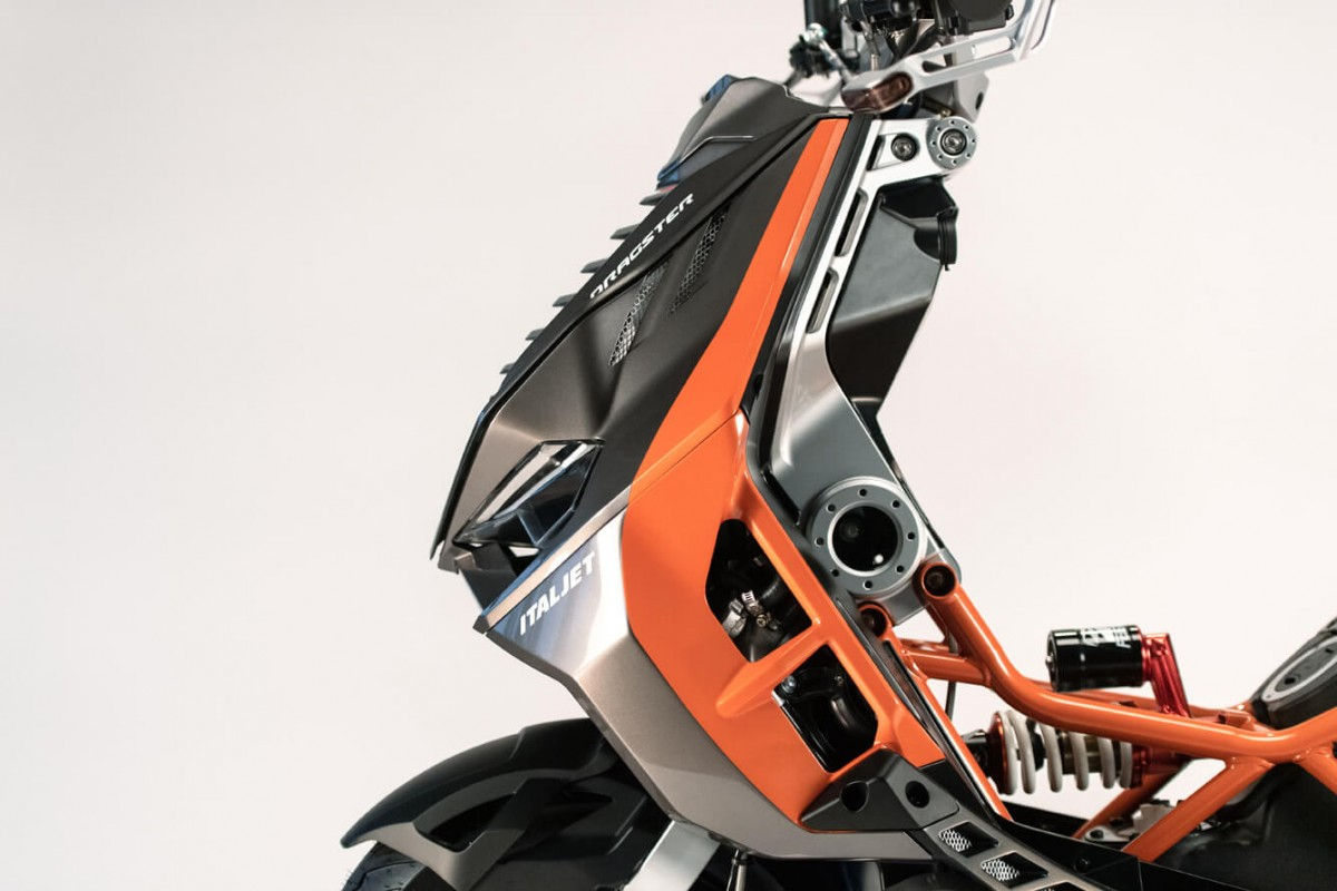 Orange/Anthracite Dragster 125cc