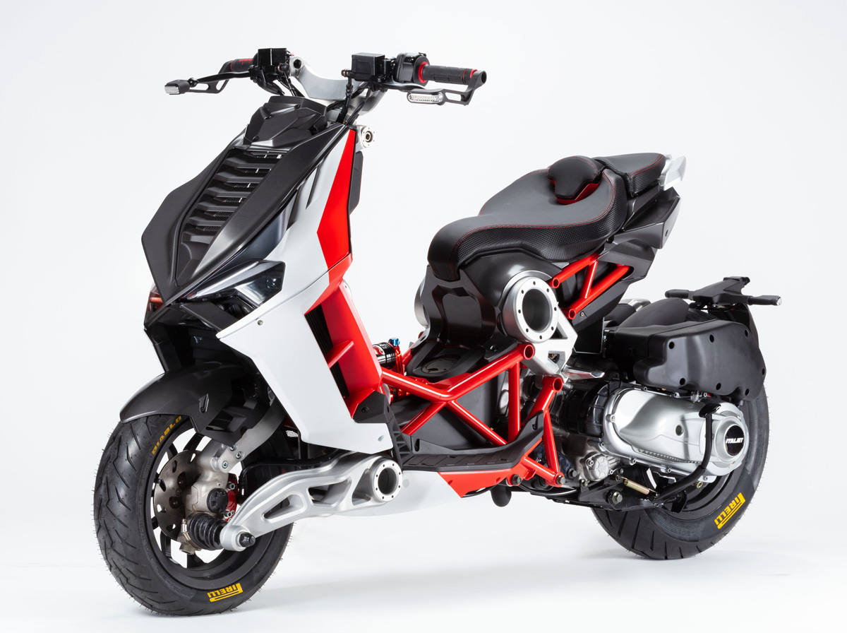 Anthracite/Red/White Dragster 125cc
