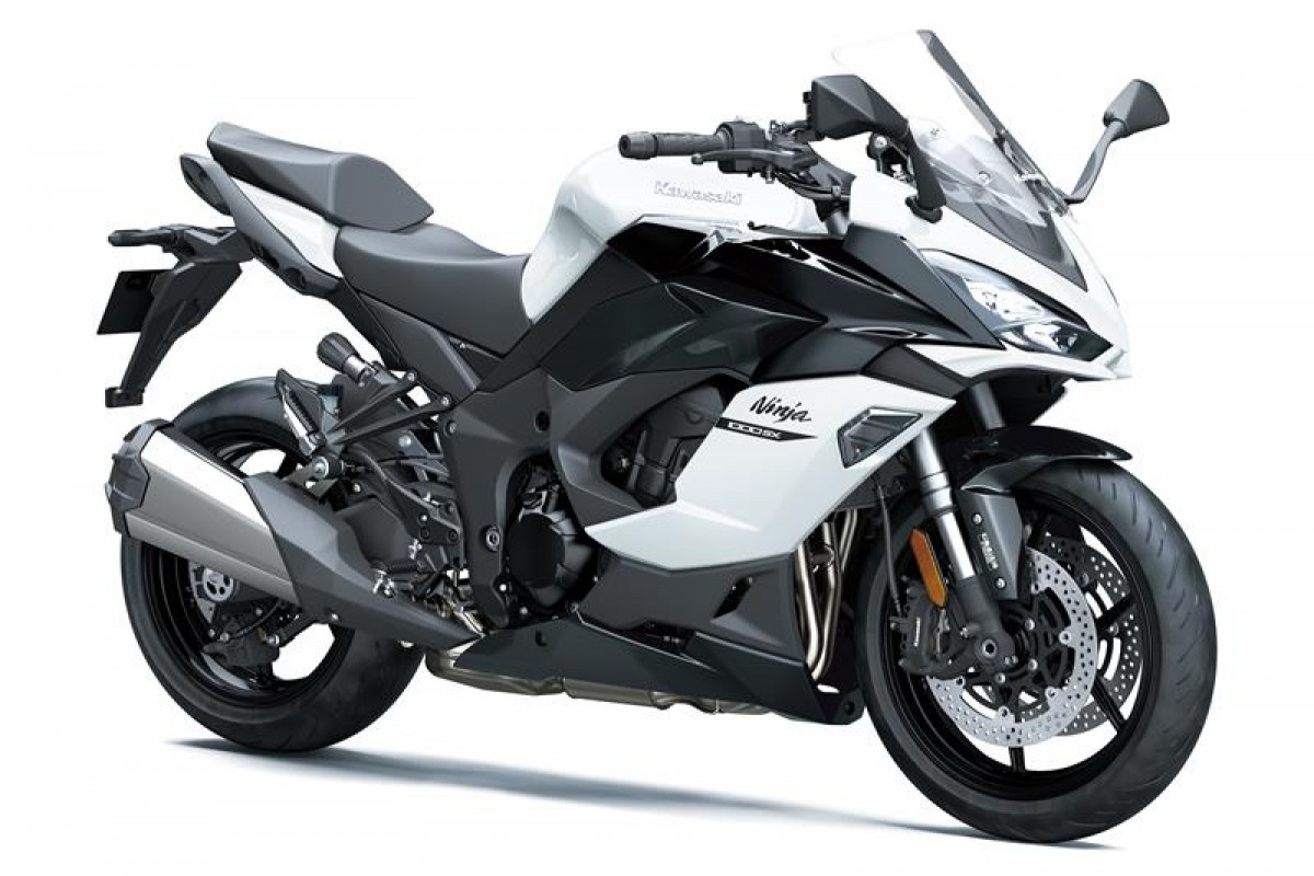 Pearl Blizzard White / Metallic Carbon Grey / Metallic Spark Black Ninja 1000SX