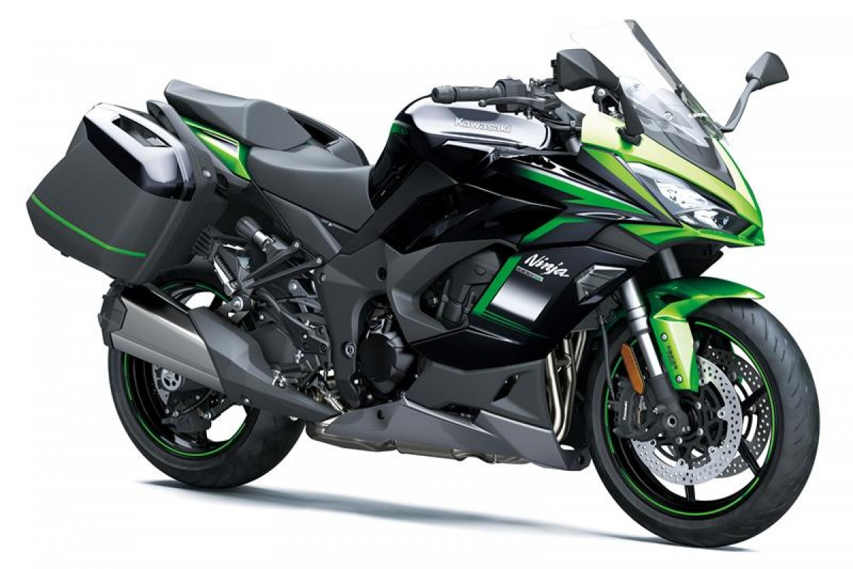 Emerald Blazed Green / Metallic Diablo Black / Metallic Graphite Gre Ninja 1000SX Tourer