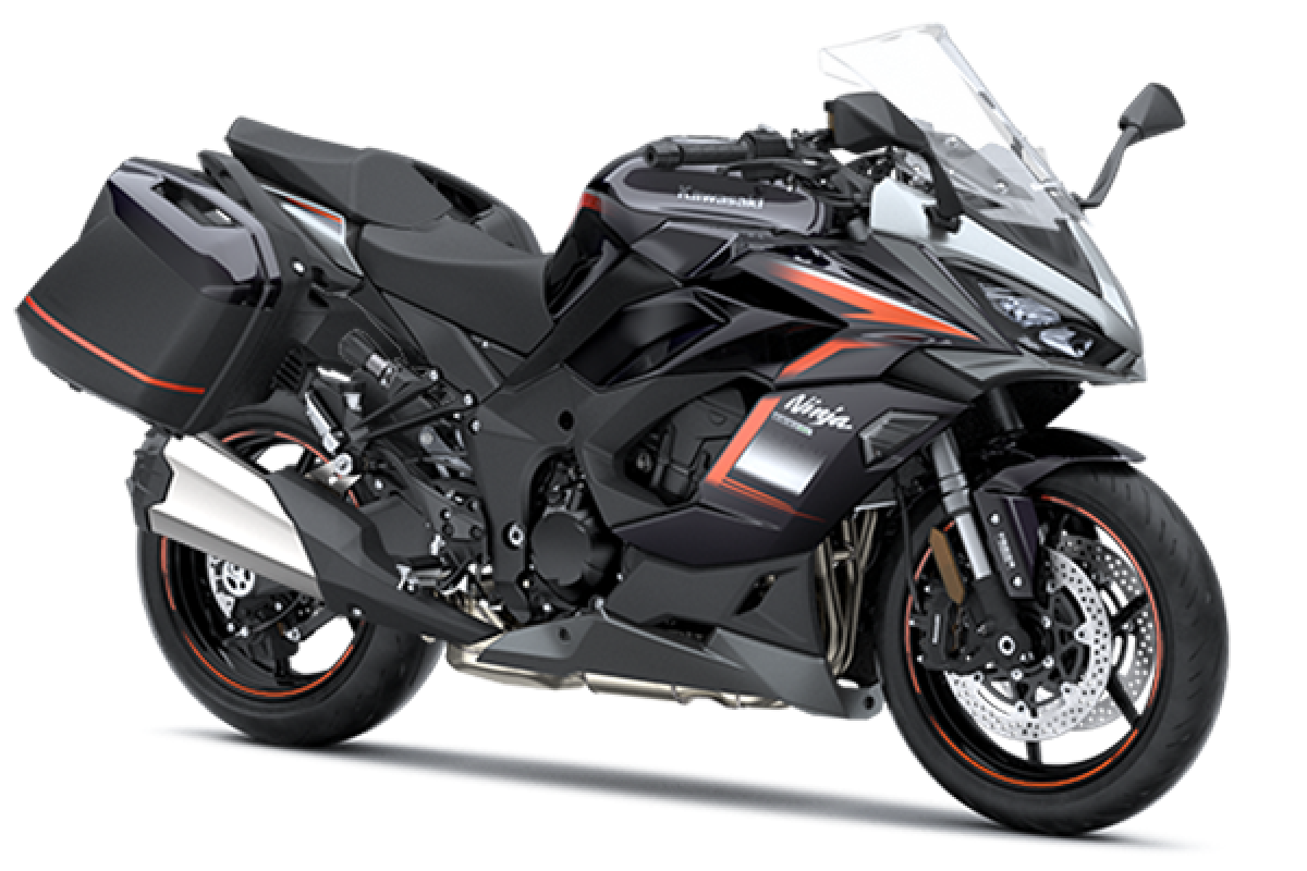 Metallic Moondust Grey / Metallic Diablo Black Ninja 1000SX Tourer
