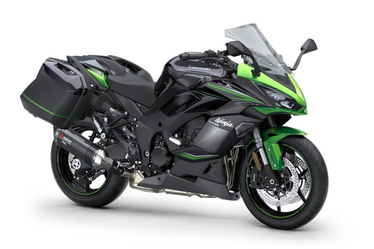 Emerald Blazed Green / Metallic Diablo Black / Metallic Graphite Grey Ninja 1000SX Performance Tourer