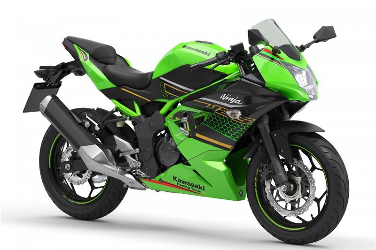 Lime Green / Ebony (KRT Edition) Ninja 125