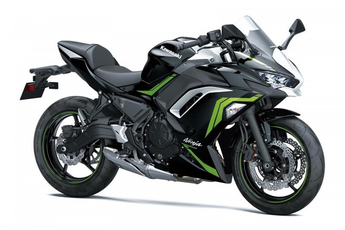 Metallic Spark Black / Pearl Blizzard White Ninja 650
