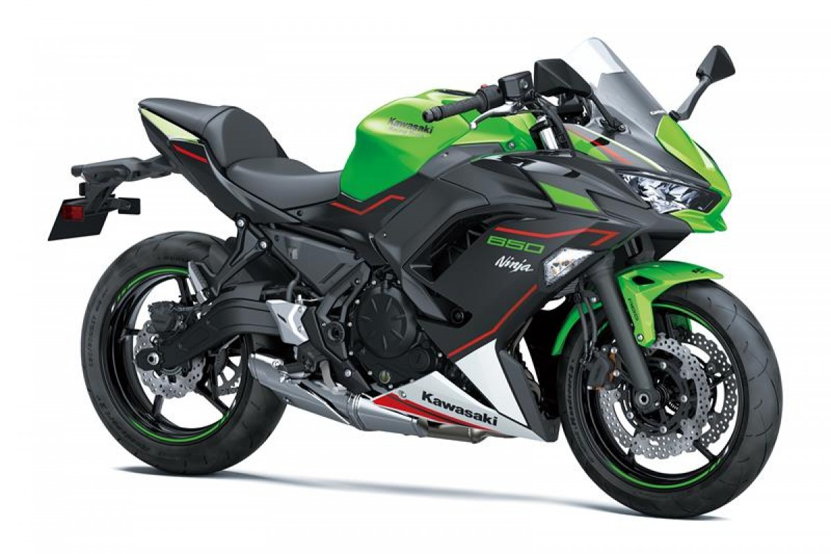 Lime Green / Ebony / Pearl Blizzard White Ninja 650