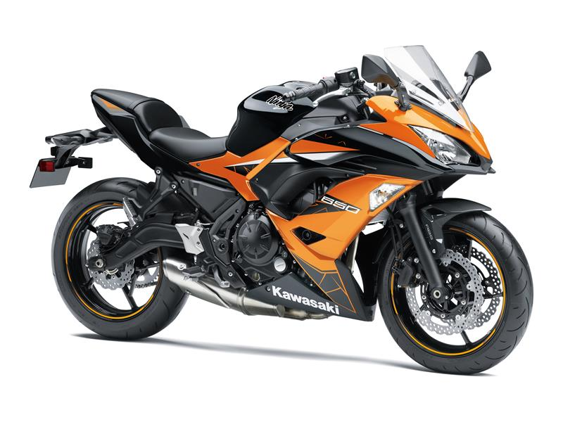 Candy Steel Furnace Orange / Metallic Spark Black Ninja 650