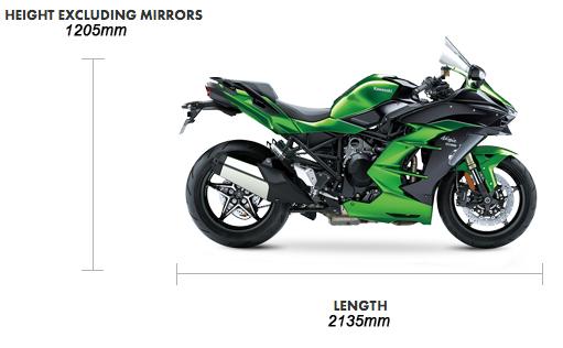 Dimensions Ninja H2 SX SE Performance 69 plate