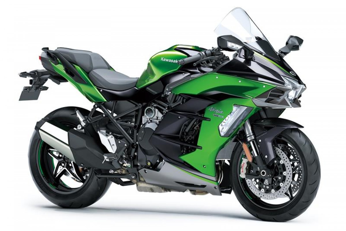 Emerald Blazed Green / Metallic Graphite Grey / Metallic Diablo Black Ninja H2 SX SE+