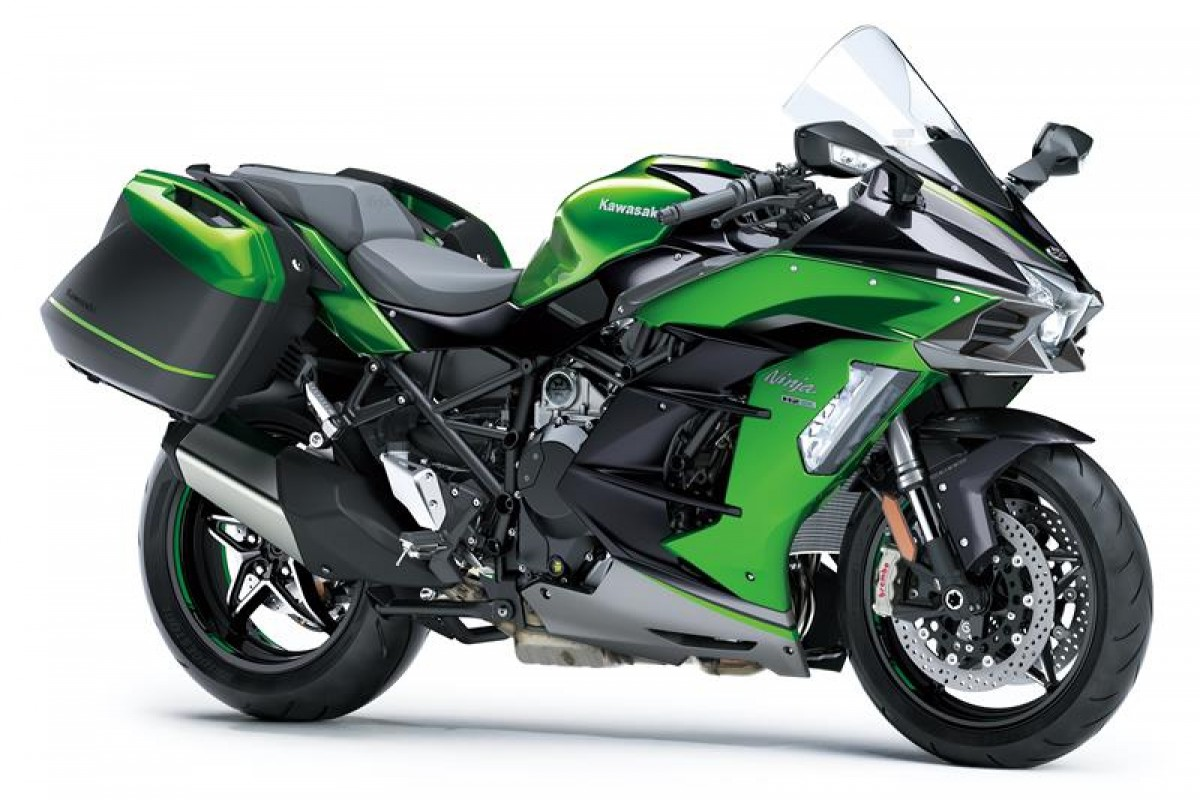 Emerald Blazed Green / Metallic Graphite Grey / Metallic Diablo Black Ninja H2 SX SE+ TOURER