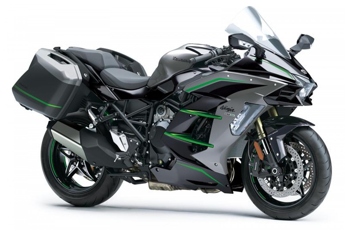 Metallic Graphite Grey / Metallic Diablo Black / Emerald Blazed Green (SE) Ninja H2 SX SE TOURER