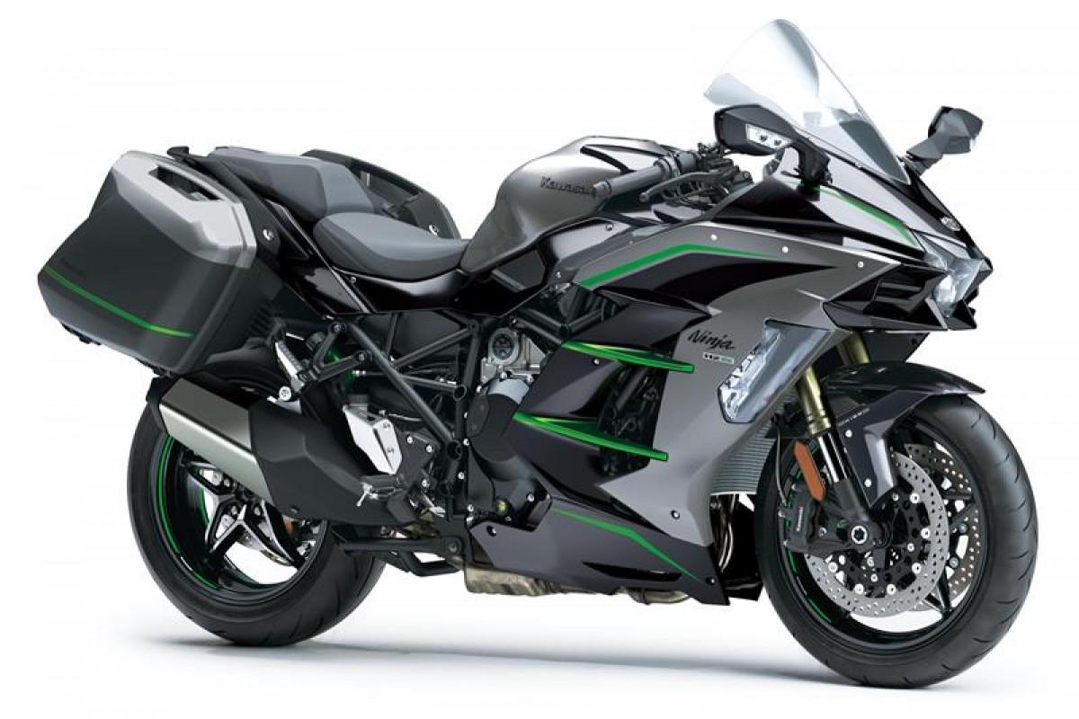 Metallic Graphite Grey / Metallic Diablo Black / Emerald Blazed Green (SE) Ninja H2 SX SE TOURER