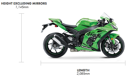 Dimensions Ninja ZX-10RR Performance
