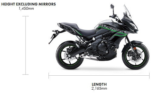 Dimensions Versys 650
