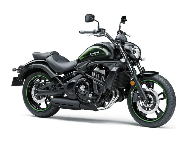 Metallic spark Black with green hydro EN650DLFA Vulcan S