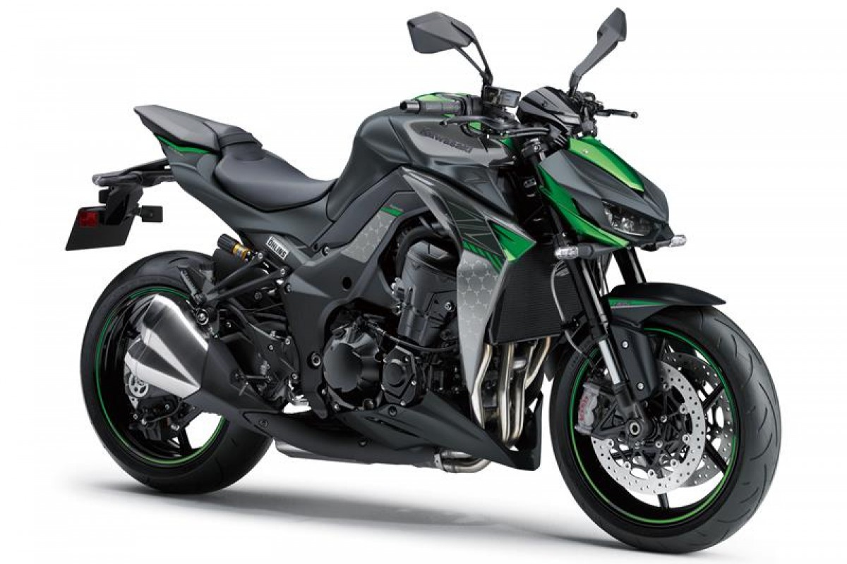 Metallic Spark Black / Pearl Storm Grey / Emerald Blazing Green Z1000 R edition