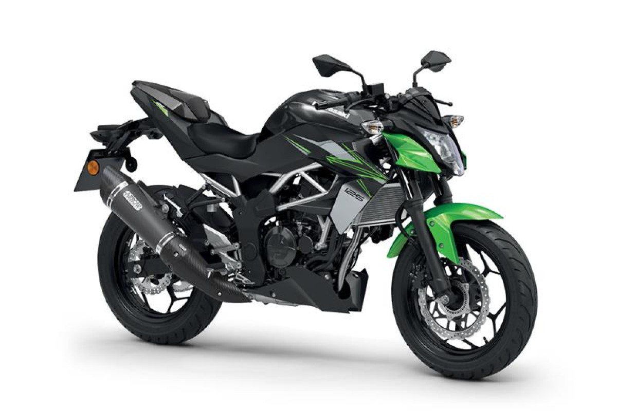 Candy Lime Green / Metallic Spark Black Z125 Performance 2022 Model