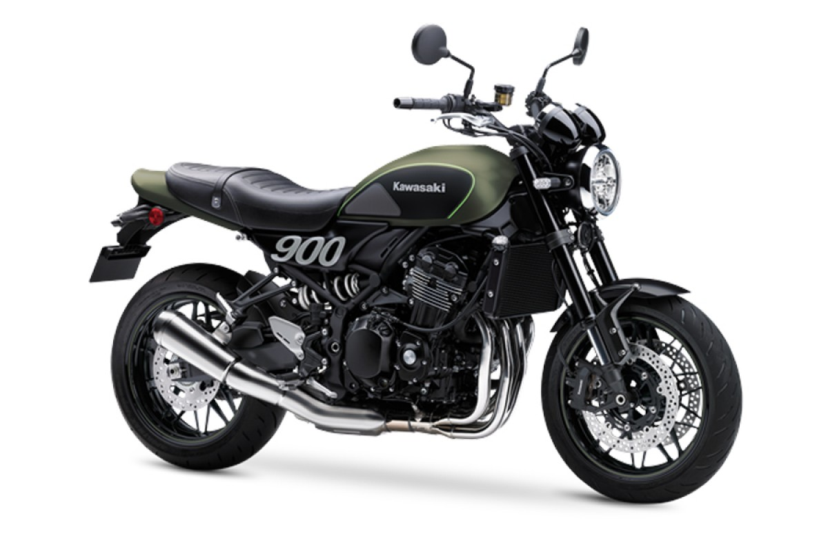 Metallic Matte Covert Green Z900 RS