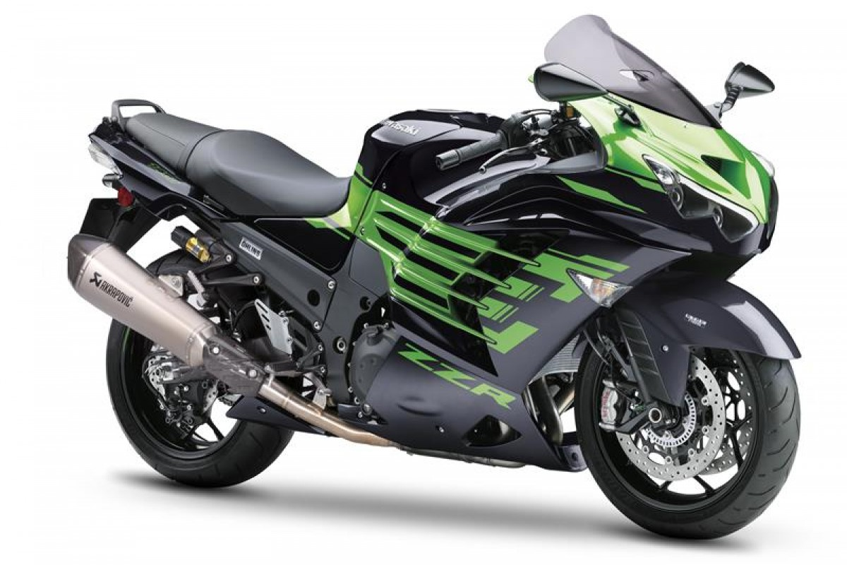 Metallic Diablo Black / Golden Blazed Green ZZR1400 Performance Sport