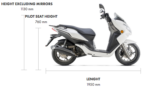 Dimensions Cityblade 125